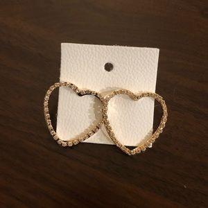 Free People Heart Earrings NWT